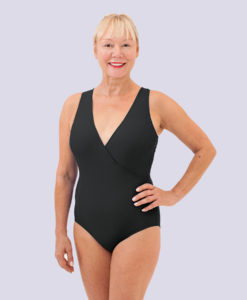 Stepin2now Swimwear - Black Swimsuit, Front View